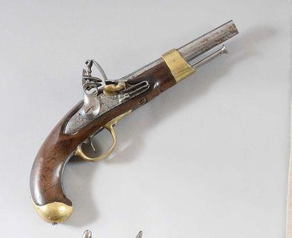 Pistolet d'arçon à silex modèle An XIII Canon...