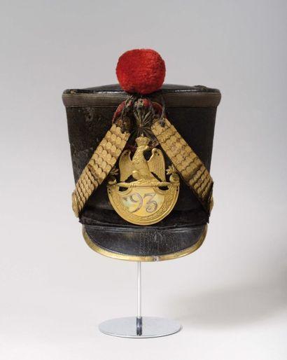 shako d'officier d'infanterie du 93e régiment...