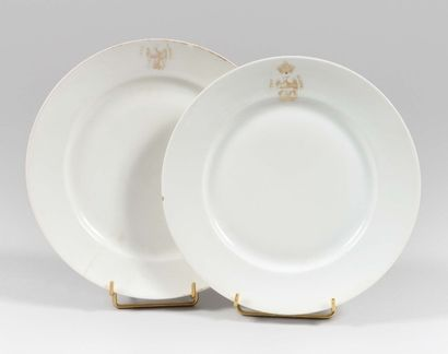 Deux assiettes du mess des officiers des...