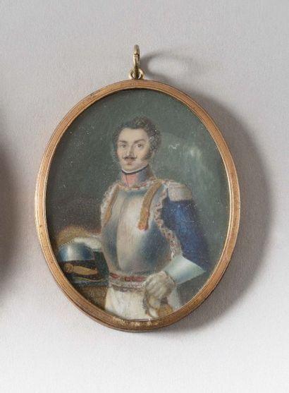 Ecole française du début du XIXe siècle «Officier...