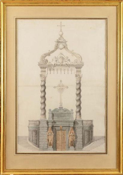 Louis VISCONTI (1791-1853) «Projet pour le...