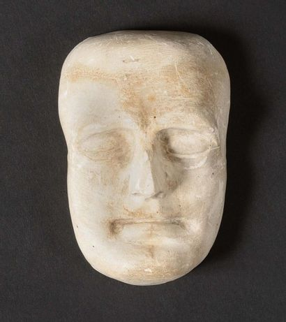 Petite reproduction En plâtre du masque mortuaire...