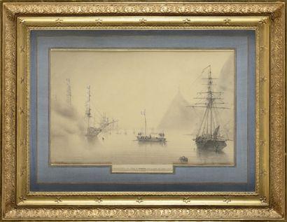 Louis LE BRET ON (1818-1866) « Embarquement...