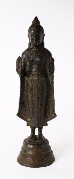ASIE DU SUD EST (Thaï) Figurine en bronze...