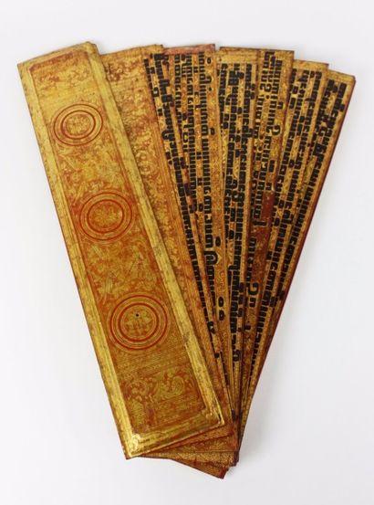 BIRMANIE Livre de prières inscrites en pali...