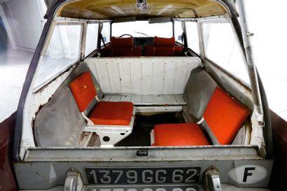 1970 CITROEN ID 20 F BREAK 8 PLACES Châssis n° 3991974 Carte grise française
