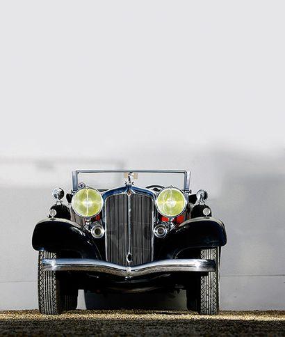 1932 CHRYSLER IMPERIAL CUSTOM Type : Eight N° de série 7803694 Carrosserie : Cabriolet...