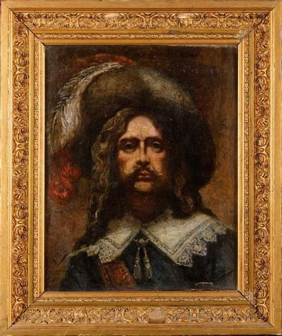 Ecole française du XIXème siècle « Portrait...