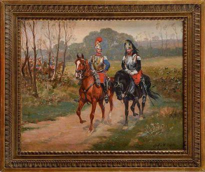 Raymond DESVARREUX (1876-1961) «Carabinier...