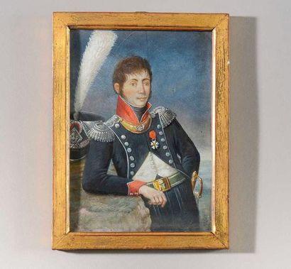 Ecole Française vers 1810 « Portrait du Colonel...