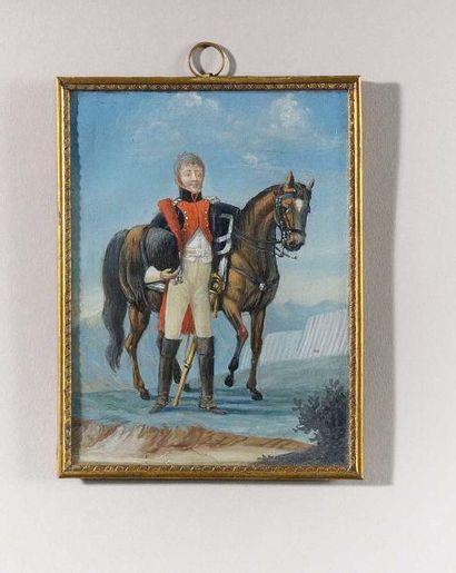 Ecole Française vers 1810 « Portrait d'un...