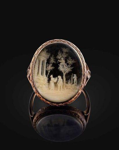 Emouvante bague offerte par l'Empereur Napoléon Bonaparte à Caroline du Colombier,...