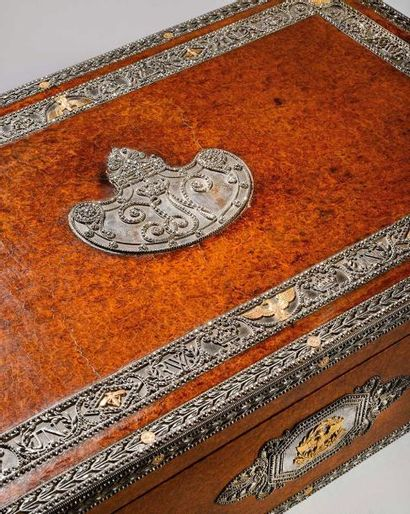 Exceptionnel coffret écritoire du Roi Jérôme, par Martin Guillaume Biennais, offert...