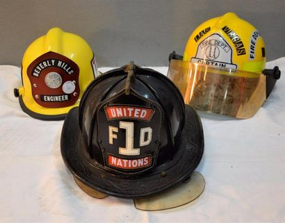 « American Firefighter » Trois casques de...