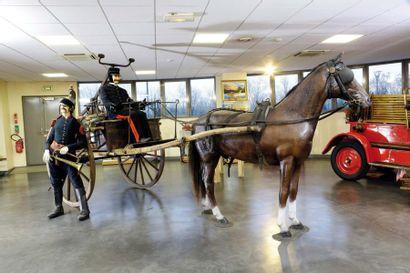 c1862 DURANTON Pompe à Bras  Sur Chariot...