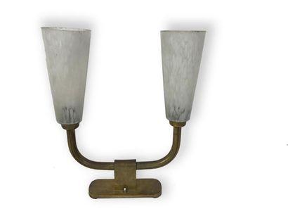 TRAVAIL DES ANNEES 1950 Lampe de table à...