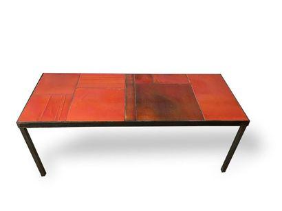 ROGER CAPRON (1922-2006) Table basse à plateau...
