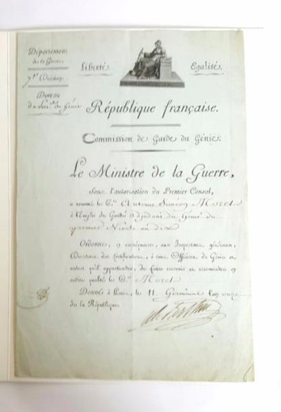 BERTHIER (Louis-Alexandre). Pièce signée...