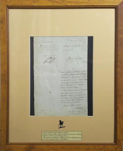 MURAT ( Joachim). Apostille signée « JMurat...