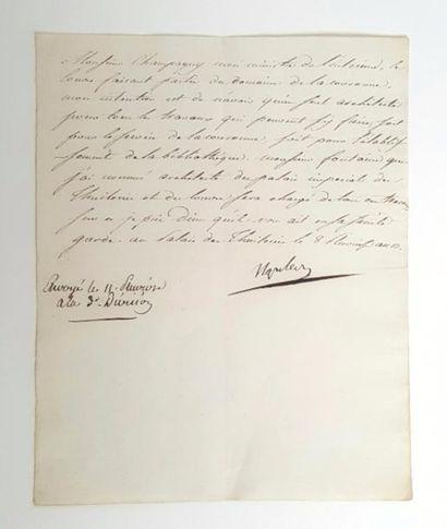 NAPOLÉON Ier. Lettre signée « Napoleon »...