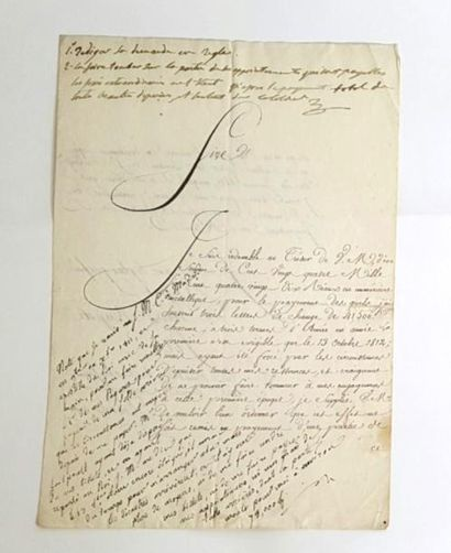 BONAPARTE ( Joseph). Apostille autographe...
