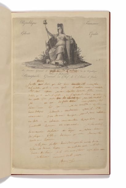 BONAPARTE (NAPOLÉON). Lettre autographe signée...