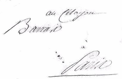 BONAPARTE (NAPOLÉON). Lettre autographe signée « Bonapart » au Directeur Paul BARRAS....