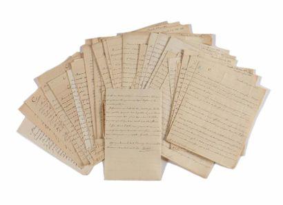 CAMBACERES ( Jean-Jacques Régis de). Correspondance...