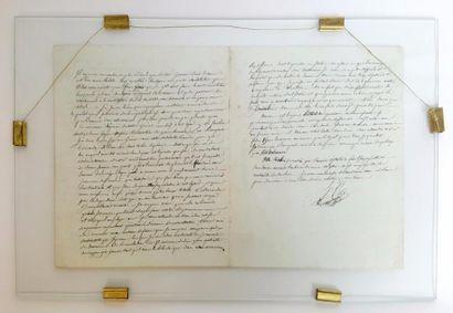CLARKE (Henry). Minute autographe signée...
