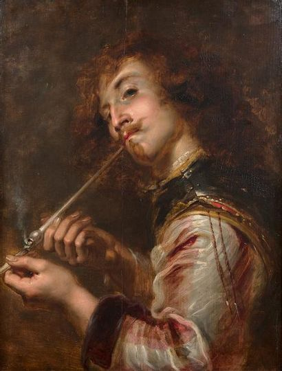 Jan COSSIERS (Anvers 1600 - 1671) Fumeur...