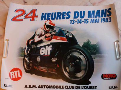 Huit affiches pour des Courses Motos au ...
