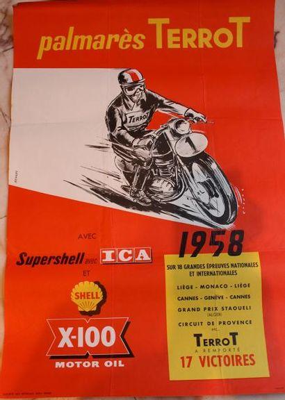 Affiche « Palmarès Terrot 1958 » signée ...