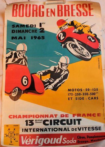 Trois affiches de Compétitions Moto régionales...