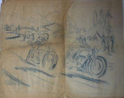 Deux études de Motos en Course