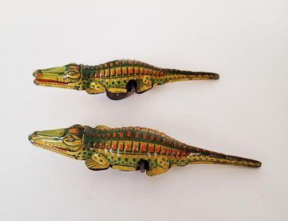 VEBE Deux crocodiles rampants mécaniques...