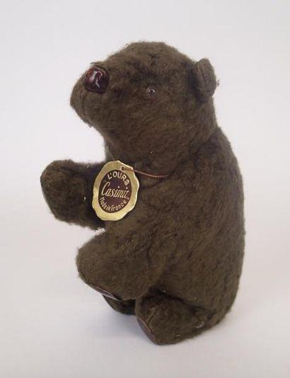 VEBE L'ours casimir Haut : 12 cm Long : 18 cm (en état de fonctionnement)