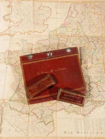Portefeuille écritoire de voyage à soufflets...
