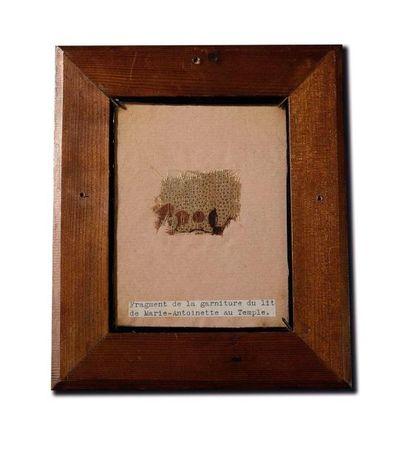 Souvenir de la Reine Marie-Antoinette. Fragment...