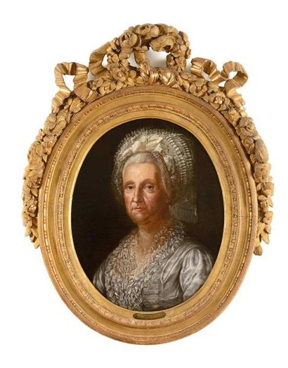 Ecole ALLEMANDE vers 1780 Portrait de Caroline...