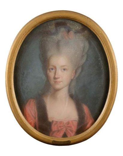 Ecole ALLEMANDE vers 1780 Baronne Louis-Charles...
