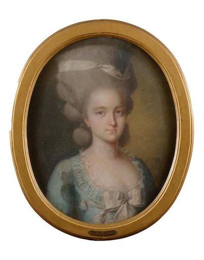 Ecole ALLEMANDE vers 1785 Portrait de Sophie...