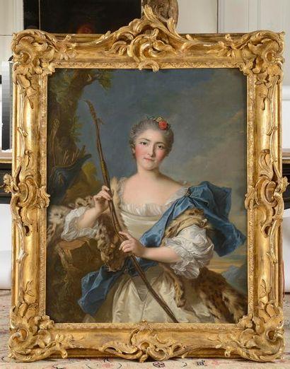 Jean-Marc NATTIER (1685-1766) (Dans le gout de) Portrait de dame en Diane Toile...