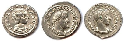 lot de trois deniers romains en argent :...
