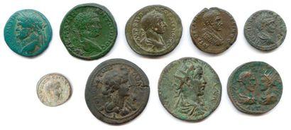 lot de neuf monnaies coloniales romaines...