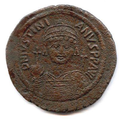lot de quatre folles byzantins en bronze...