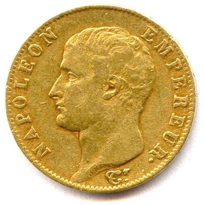 NAPOLÉON Ier (1804 - 1814) 20 Francs or (tête...
