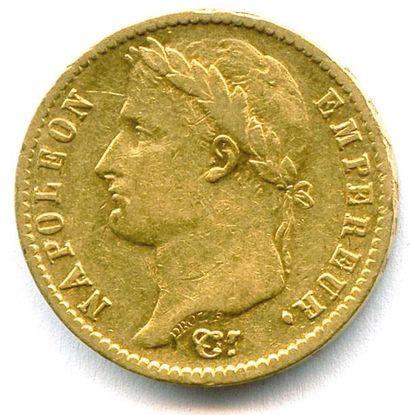 NAPOLÉON Ier 20 Francs or (tête laurée) 1814...