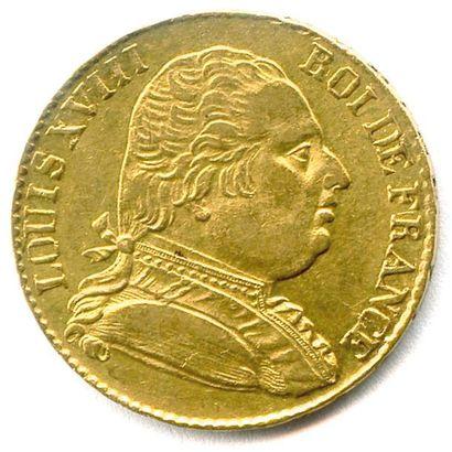 LOUIS XVIII 20 Francs or (buste habillé)...