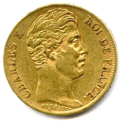 CHARLES X (1824 - 1830) 20 Francs or 1830...