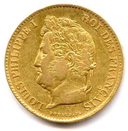 LOUIS PHILIPPE Ier (1830 - 1848) 40 Francs...